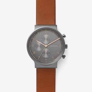 Herrenuhr Ancher - Chronograph - Leder