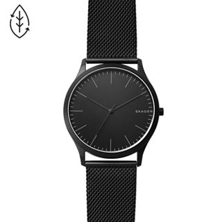 Jorn Black Steel-Mesh Watch
