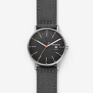 Signatur Solar Grey Recycled Woven Watch