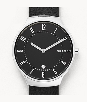 Grenen Black Leather Watch