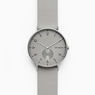 Aaren Grey Leather Watch