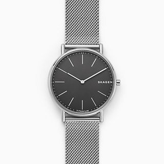 Signatur Slim Titanium and Steel-Mesh Watch