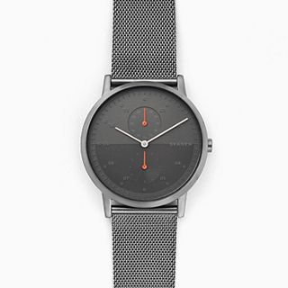 Kristoffer Gunmetal Steel-Mesh Watch