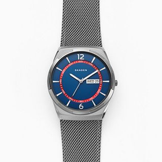 Melbye Gunmetal Steel-Mesh Watch