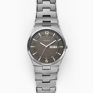 Melbye Gunmetal Steel-Link Watch