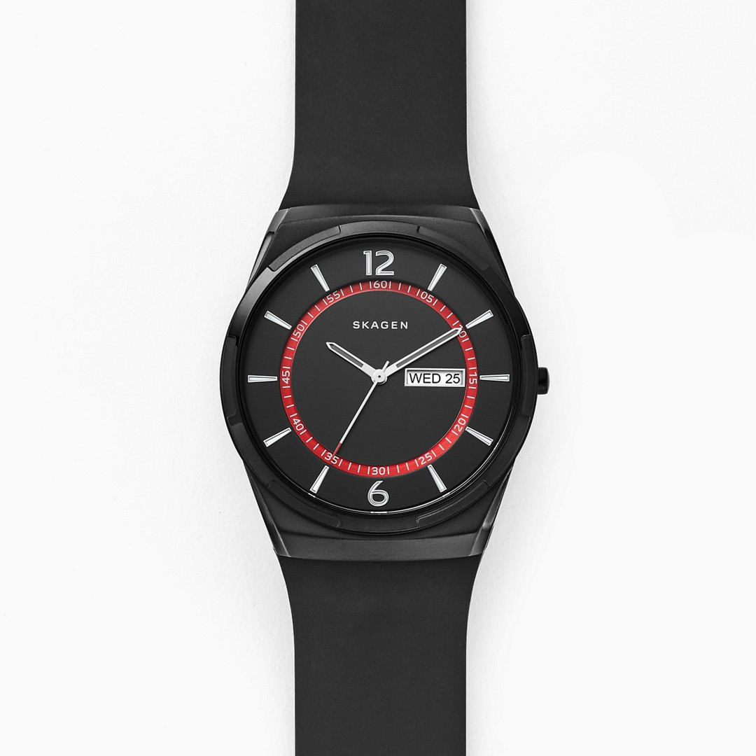 Melbye Black Silicone Watch  - SKW6506