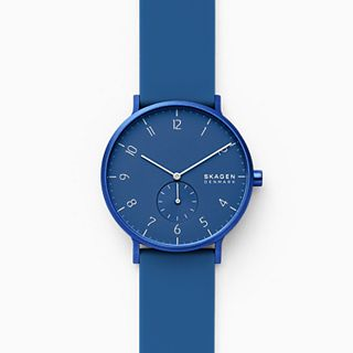 Aaren Kulor Blue Silicone 41mm Watch