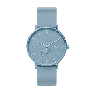 Aaren Kulør Light Blue Silicone 41mm Watch