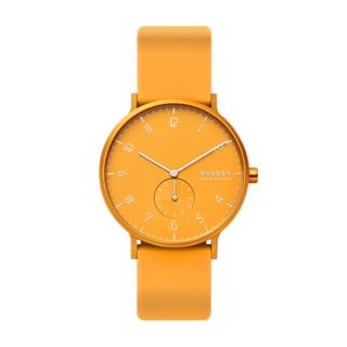 Aaren Kulor Yellow Silicone 41mm Watch
