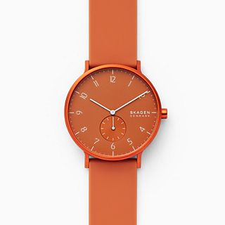 Aaren Kulor Orange Silicone 41mm Watch