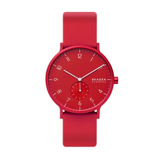 Aaren Kulor Red Silicone 41mm Watch