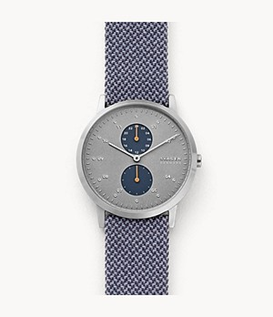 Kristoffer Blue Recycled Woven Watch