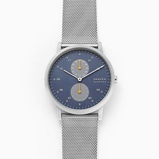 Kristoffer Silver Steel-Mesh Watch
