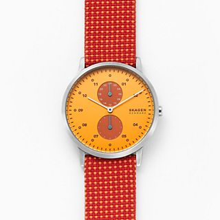 Kristoffer Red Recycled Woven Watch