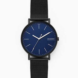Signatur Black Steel-Mesh Watch