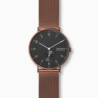 Aaren Kulor Matte Red Steel-Mesh 40mm Watch