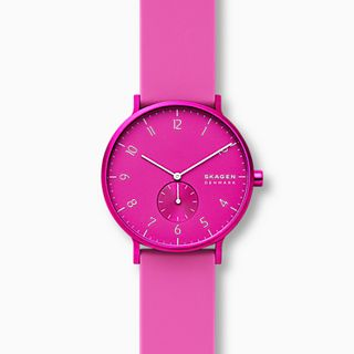 Aaren Kulor Pink Silicone 41mm Watch