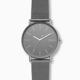 Signatur Gunmetal Steel-Mesh Watch