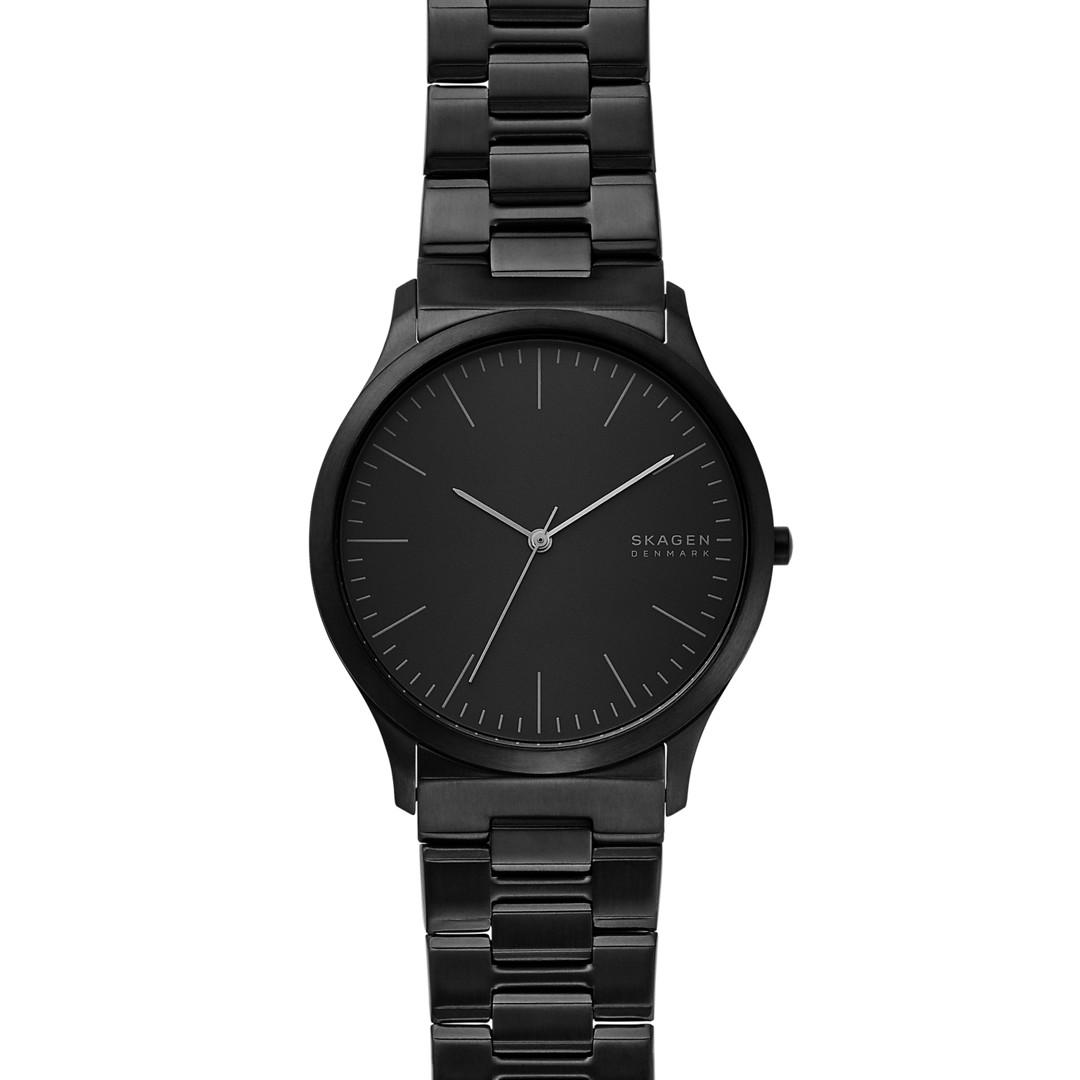 Jorn Three-Hand Black Stainless Steel Watch  - SKW6563