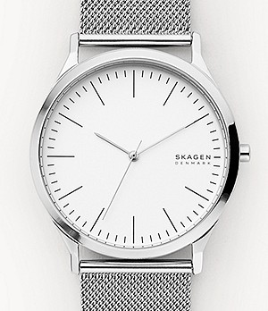 Jorn Silver-Tone Steel-Mesh Watch