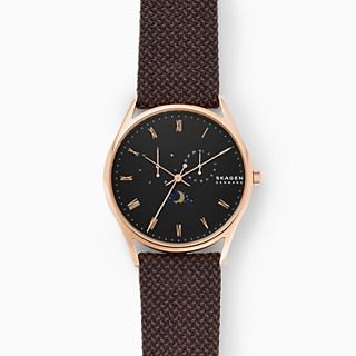 Holst Moonphase Multifunction Brown Nylon Watch