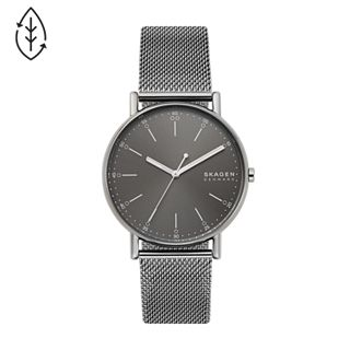 Signatur Three-Hand Grey Steel-Mesh Watch