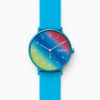 Aaren Kulor Blue Tie-Dye Silicone 41mm Watch