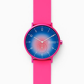 Aaren Kulor Pink Tie-Dye Silicone 41mm Watch