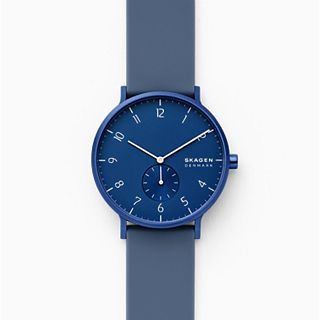 Aaren Kulor Dusty Blue Silicone 41mm Watch