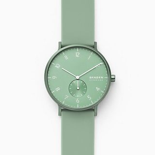 Aaren Kulor Mint Silicone 41mm Watch