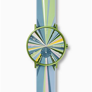Aaren Kulor Green Colorburst Silicone 41mm Watch