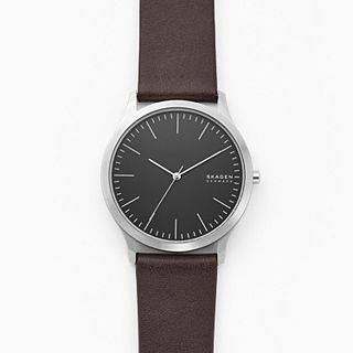 Jorn Three-Hand Brown Leather Watch