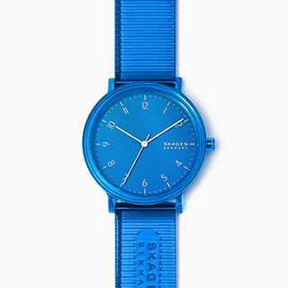 Aaren Transparent Three-Hand Blue 41mm Watch
