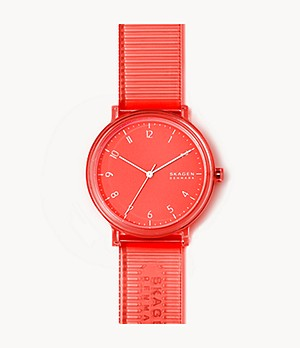 Aaren Transparent Three-Hand Coral 41mm Watch