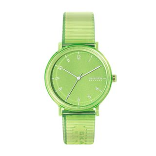 Aaren Transparent Three-Hand Green 41mm Watch