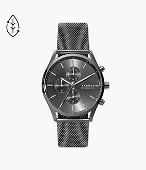 Holst Chronograph Gunmetal Steel-Mesh Watch