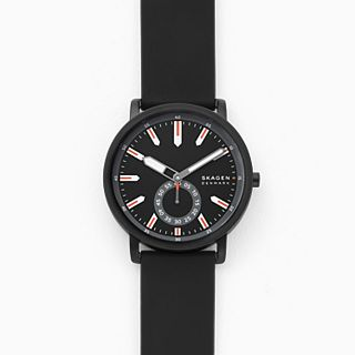 Colden Three-Hand Black Silicone Watch