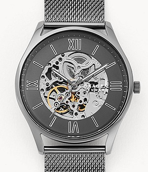 Holst Automatic Gunmetal Steel-Mesh Watch