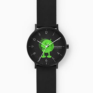 Hoptimist x Skagen Aaren Three-Hand Black Silicone 41mm Watch