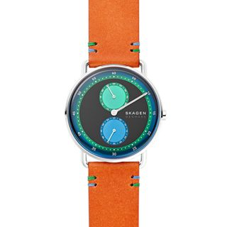 Horizont Multifunction Brown Leather Watch