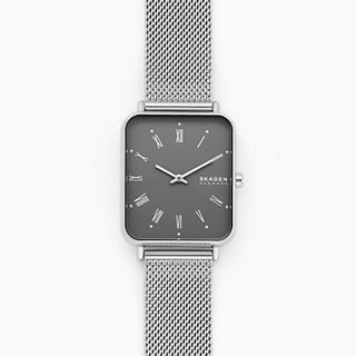 Ryle Two-Hand Silver-Tone Steel-Mesh Watch