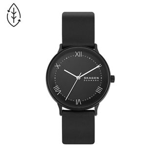 Nillson Three-Hand Black Leather Watch