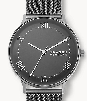 Nillson Three-Hand Gunmetal Steel Mesh Watch