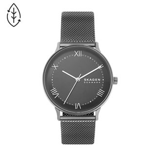Nillson Three-Hand Gunmetal Steel-Mesh Watch