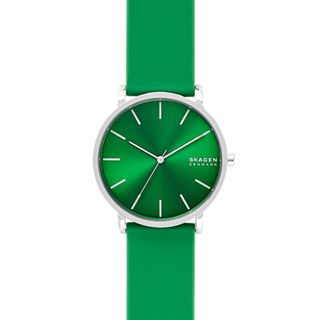 Hagen Three-Hand Green Silicone Watch