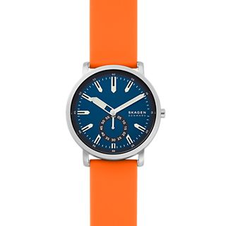 Colden Three-Hand Orange Silicone Watch