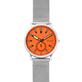 Colden Three-Hand Silver-Tone Steel-Mesh Watch