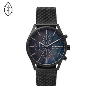 Holst Chronograph Black Steel-Mesh Watch