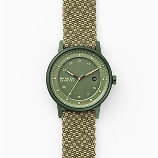 Henriksen Solar Three-Hand Date Green Recycled Woven Watch