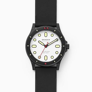 Fisk Three-Hand Black Silicone Watch